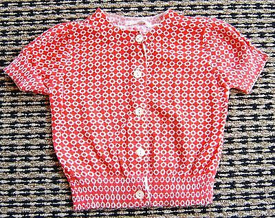 Country Road Baby Girls Red Summer Cotton Cardigan  Sz 3 - 6 Months