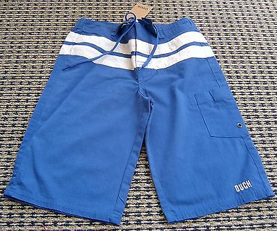 Ouch Boys Blue Board Shorts Sz 10 New With Tags