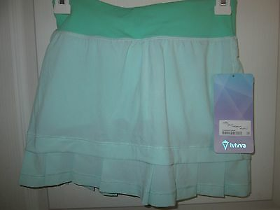 Ivivva Lululemon Tennis Golf Skirt  with built in shorts, Size 10 NEW tags