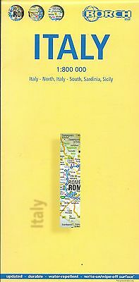 Map of Italy, Laminated & Folded by Borch Maps (2010)