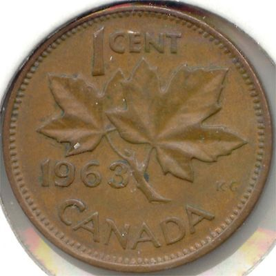 Canada 1963 One Cent Canadian Penny 1c *EXACT* COIN