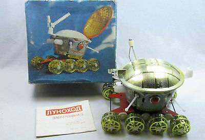SOVIET VINTAGE SPACE TOY BATTERY OPERATED LUNOKHOD CLAPPING CONTROL 1970s