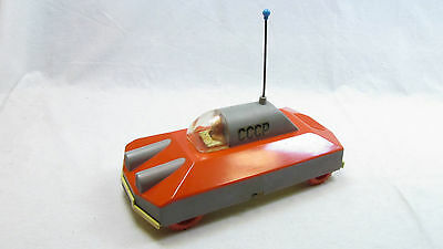 SOVIET VINTAGE SPACE TOY BATTERY OPERATED SPACE VEHICLE CCCP 70's RARE