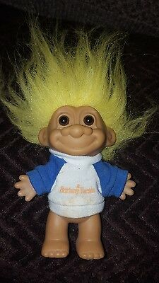 Russ troll  yellow hair retro vintage collectable 90s