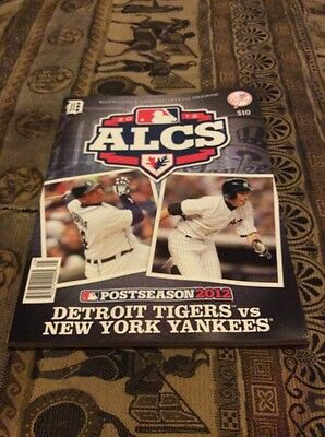 MLB ALCS Postseason 2012 Detriot Lions Vs New York Yankees Official Programme