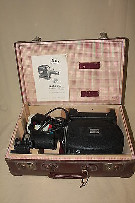 Leitz Prado 250 Projector With Hektor 85/2.8 Lens Mint In Luggage Case 6160