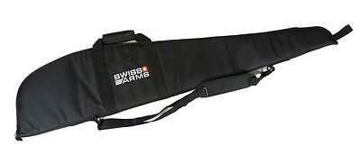 SWISS ARMS WIDE PADDED Lined GUN + SCOPE SLIP Bag Carry Case air shotgun rifle