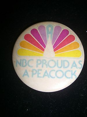 Vintage Nbc Proud As A Peacock Pin News Televsion Tv Sports