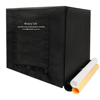 Beauty Life Portable Photo LED Studio Shooting Tent Box Kit with Backdrops & &