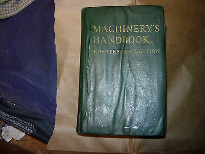 >>>>>> Vintage  Machinerys Handbook Eighteenth  Edition .1970 <<<<<