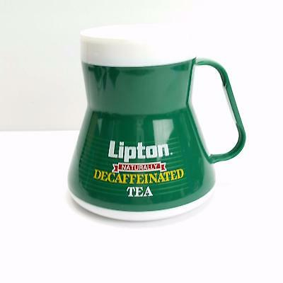 Vintage Lipton Tea Plastic Travel Mug. Good Condition