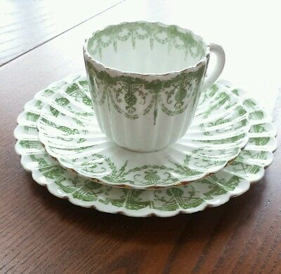 Antique Wileman Foley Trio Cup, Saucer And Side Plate 4942