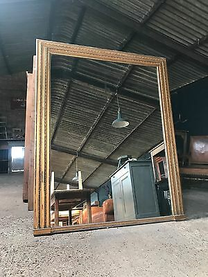 Superb Large Victorian Antique Gold Framed Foxed Mirror