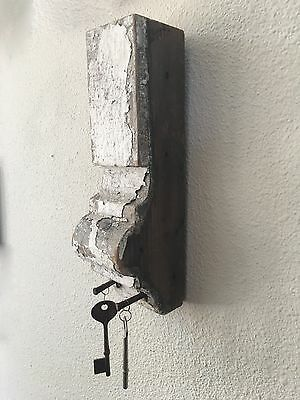 Architectural Salvage Wall Decor Corbel Key Display With Skeleton Keys