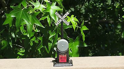O Scale Marx Railroad Crossing Signal Sign w/ Bell Gauge