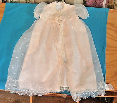 Gorgeous Embroidered Robe Gown christening for baby infant antique vintage doll