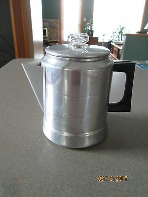 Vintage Comet Aluminum Coffee Pot, 7 Cup, Made in USA.