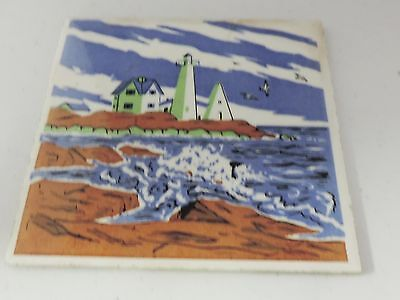Vintage Nubble Light House Tile