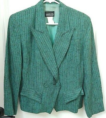 VTG Carole Little 90s Blazer Double Breasted Linen Jacket Size 6 Small Med USA