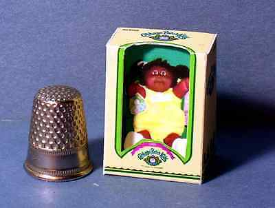 Dollhouse Miniature Cabbage Patch Kid AA Girl Doll Box baby nursery 1:12 scale