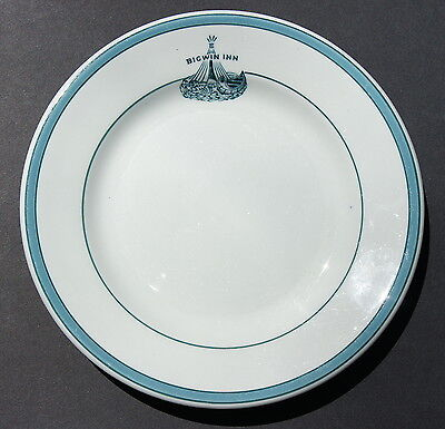 "Dinner Plate 7 2/16 "" ** Bigwin Inn ** Lake of Bays Muskoka,Ontario Canada"