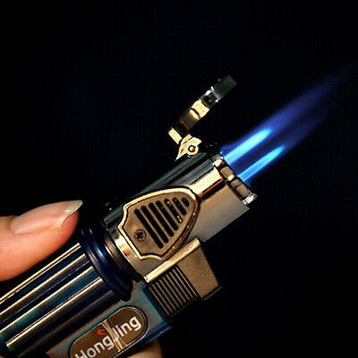 New Three Nozzles Windproof Torch Flame Cigarette Cigar Lighter Butane Gas Fuel