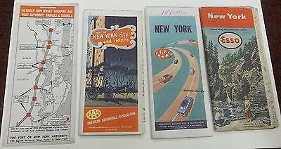 NEW YORK STATE MAPS Esso Port of New York Authority 1952 1956