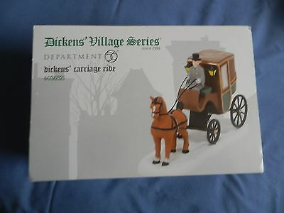 Dept 56 Dickens Village Dickens Carriage Ride Porcelain Accessory NEW RETIRED