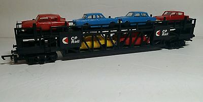 """Triang Hornby CP Auto Carrier with 6 Minic Autos """"Excellent"""""""
