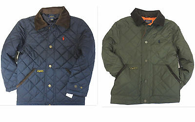 POLO RALPH LAUREN Boys Size 6 Jacket Kids Quilted Barn Coat NEW