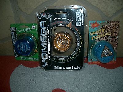 1-Yomega Maverick-High Performance,Yo-Yos pro Level,1-Player,1- Hackey Sack