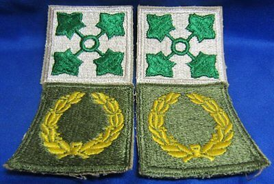 WWII Patton's 4th Infantry Division Patches Lot Of 4 - NO GLOW