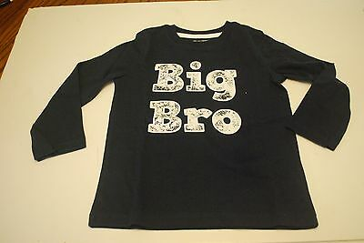 Toddler Boys Long Sleeve Shirt Size 3T Navy Blue NWT Big Brother