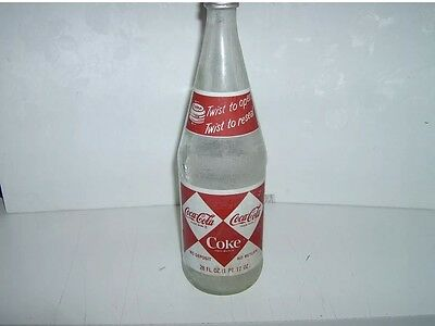 1960's Vintage Coca Cola Bottle Diamond Painted Label