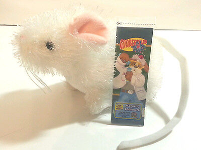 Ganz Lil'Kinz Plush Toy White Mouse HS207 no code +1 Webkinz Bookmark with code