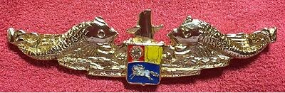 Venezuela Navy Submarine Forces Sub Officer Dolphins Pin Badge Insignia