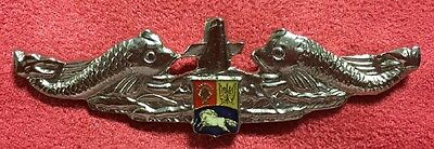 Venezuela Navy Submarine Forces Sub Enlisted Dolphins Pin Badge Insignia