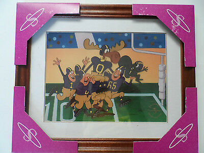 """Universal Studios Super-Cel 1999 Limited Edition """"Rocky and Burwinkle"""" Football"""