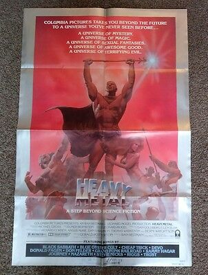 """""""Heavy Metal"""" US 1981 original one sheet 27"""" by 41"""" movie poster in vg+ cond"""