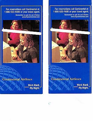 Continental Air Lines Ticket Jackets
