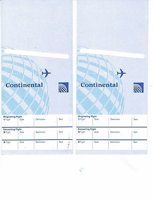 Continental Air Lines Economy Ticket Jackets