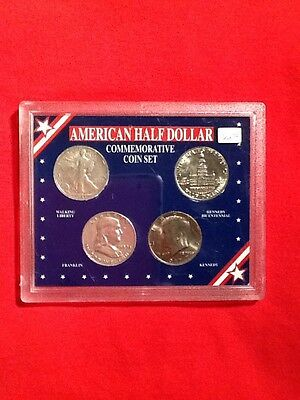 American Half Dollar Commemorative Coin Set - Four Coins, Two are 90% Silver