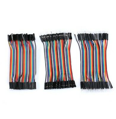 Multi Dupont Male Female Breadboard Jumper Wire Cable Raspberry Pi Arduino 10CM