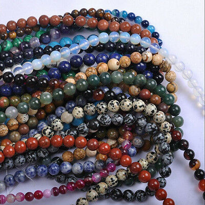40Pcs 4MM Wholesale Lot Natural Gemstone Round Spacer Loose Beads