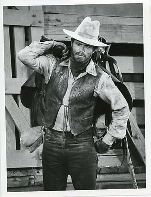 Roger Davis Carries Saddle Portrait The Young Country Original 1970 Abc Tv Photo