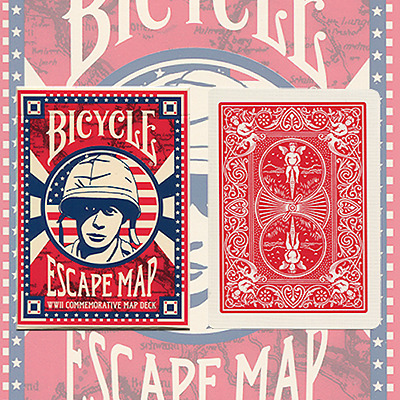 Bicycle Escape Map Deck Playing Cards by USPCC and Murphy's Magic