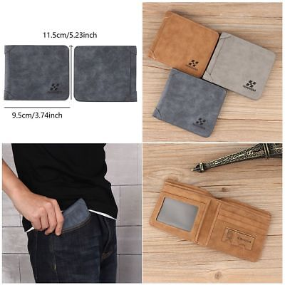 Men PU Leather Purse Wallet ID Credit Card Holder Clutch Bifold Coin Pockets New