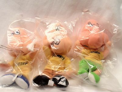 Set of 3 Allergy / Cold Advertising Plush Beanies Sneezer Runny Scratch - Rare!