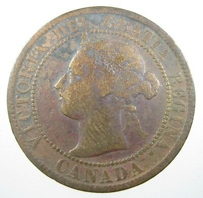 Canada 1 Cent 1893 Copper #c Large ¢ Victoria Canadian World Money Coin