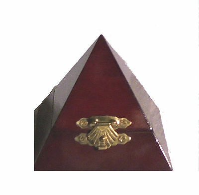 Secret Occult Society Wood Pyramid Ring Amulet Trinket Spell Vial Alter Pin Box